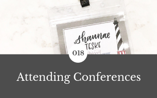 018: Attending Conferences